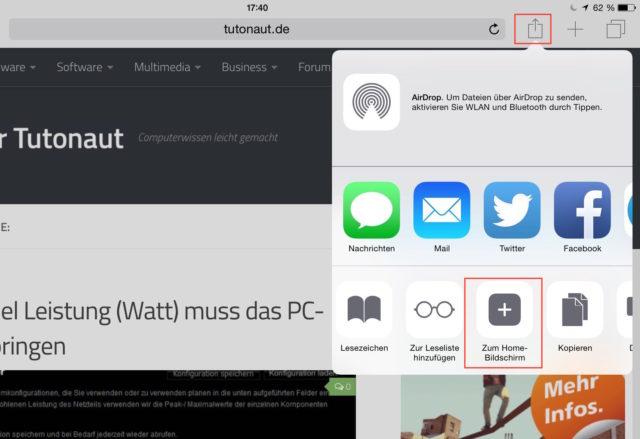 iOS Safari Link