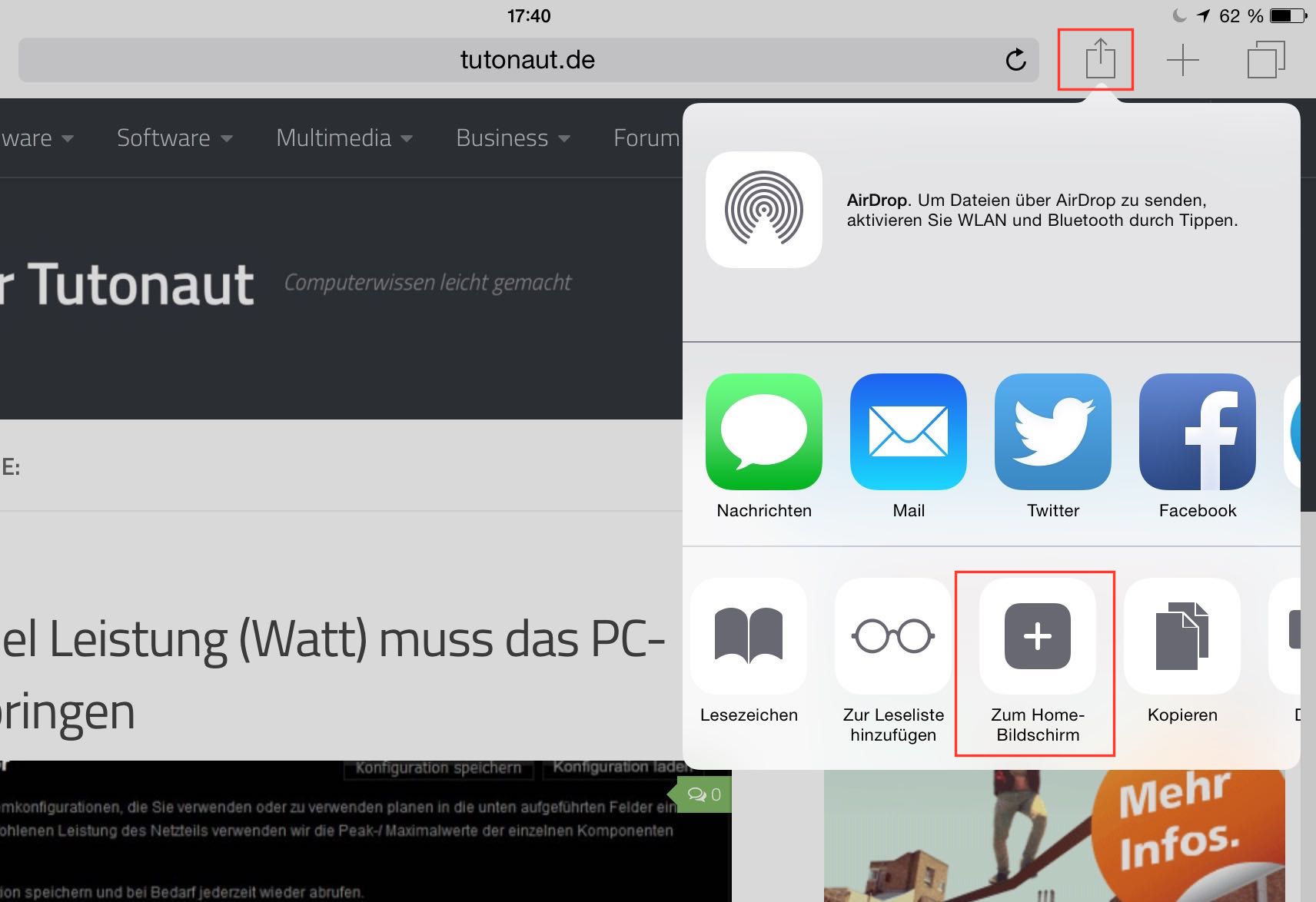 webseite als android app