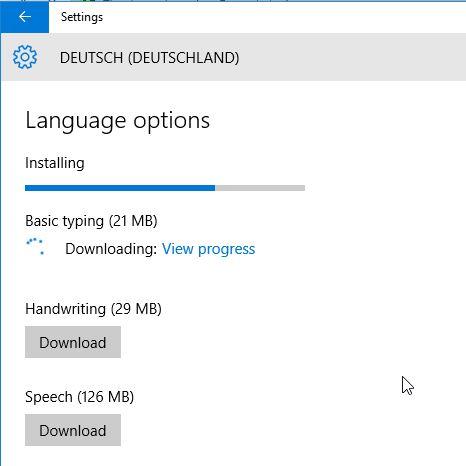 Windows 10 Language download