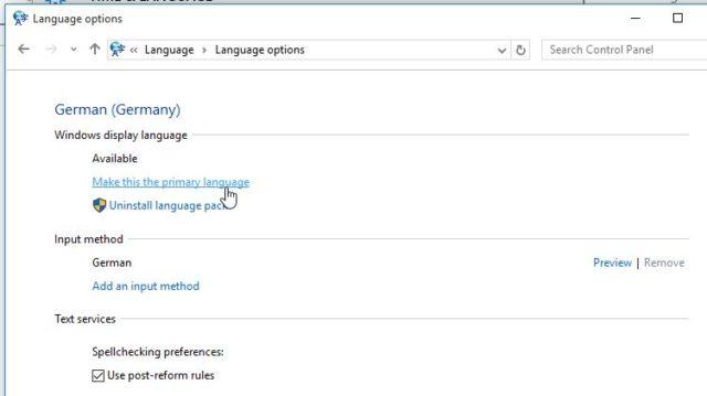 Sprache wechseln Windows