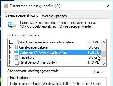 Alte Windows-Installationen löschen