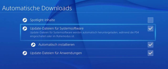 Playstation 4 Updates