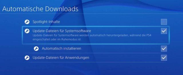Playstation 4 Updates