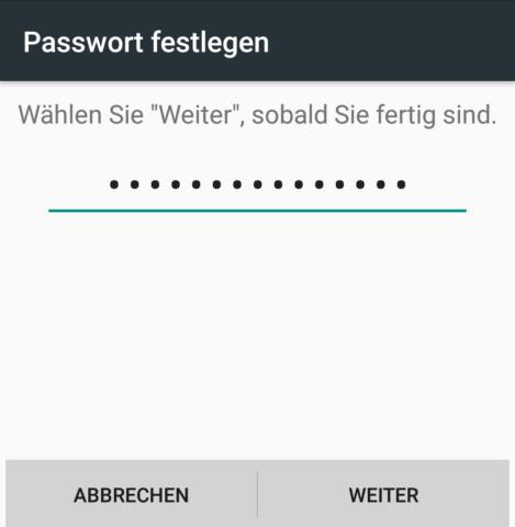 Android Passwort