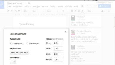 Bild von Google Docs Dateien mit Kommentaren drucken