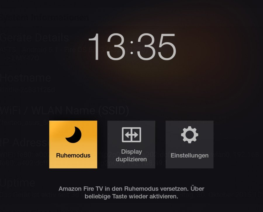 fire stick neu starten
