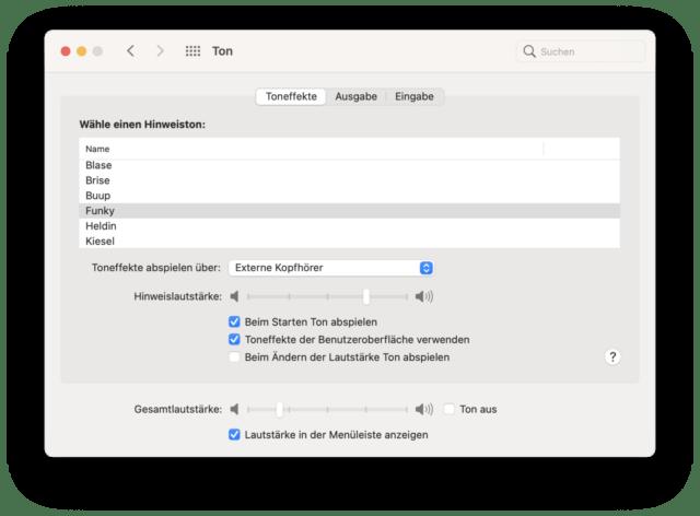 """Seit MacOS 11 """"Big Sur"""" könnt Ihr den Startton per Systemeinstellung ein- und ausschalten."""