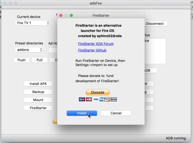 adbFire Firestarter