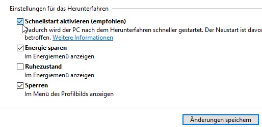 Windows 10 Schnellstart