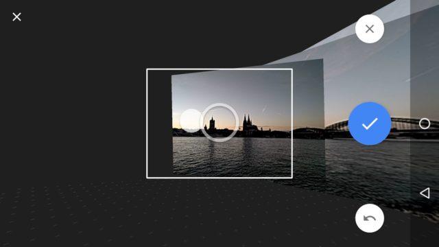 Folgt den Punkten, um Euer Panorama aufzunehmen