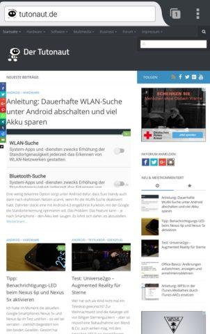 Firefox kann auch Websites im Responsive Design in der Dekstop-Variante anzeigen