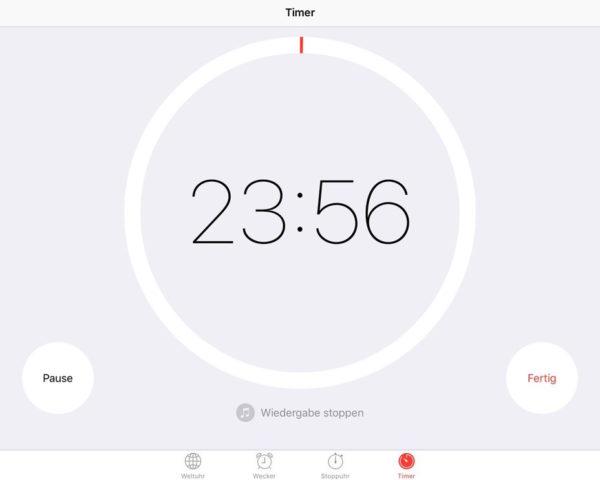 Der iOS-Countdown kann nicht nur als Wecker dienen, sondern auch als Schlummerfunktion für alle Apps