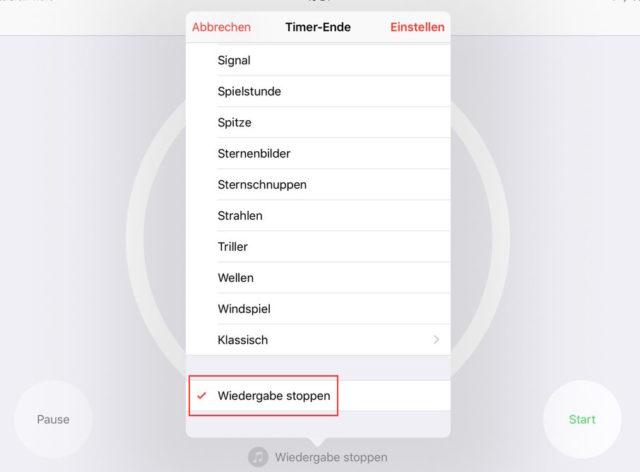 iOS Sleep Timer