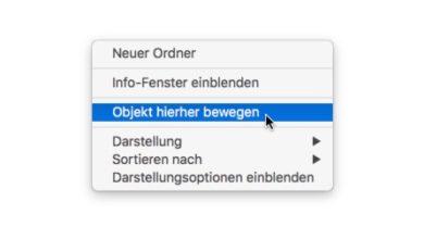 Bild von Dateien und Ordner im Finder einfacher ausschneiden und verschieben