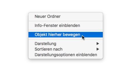 Per Options-Taste könnt Ihr auch im Netzwerk ganz einfach Dateien und Ordner verschieben