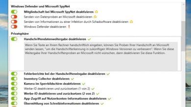 Bild von Anleitung: Windows-10-Funktionen abschalten, die Daten an Microsoft senden