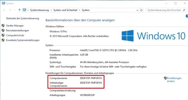 Windows 10 Name