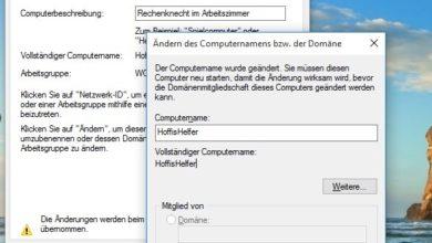 Bild von Tipp: Den Namen eines Windows-PCs im Netzwerk ändern