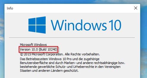 Über winver findet Ihr heraus, auf welchem Update-Stand Eure Windows-Installation ist