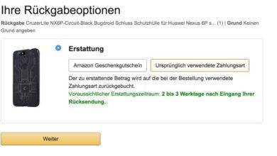 Bild von Anleitung: Bei Amazon umtauschen und das Geld zurück bekommen