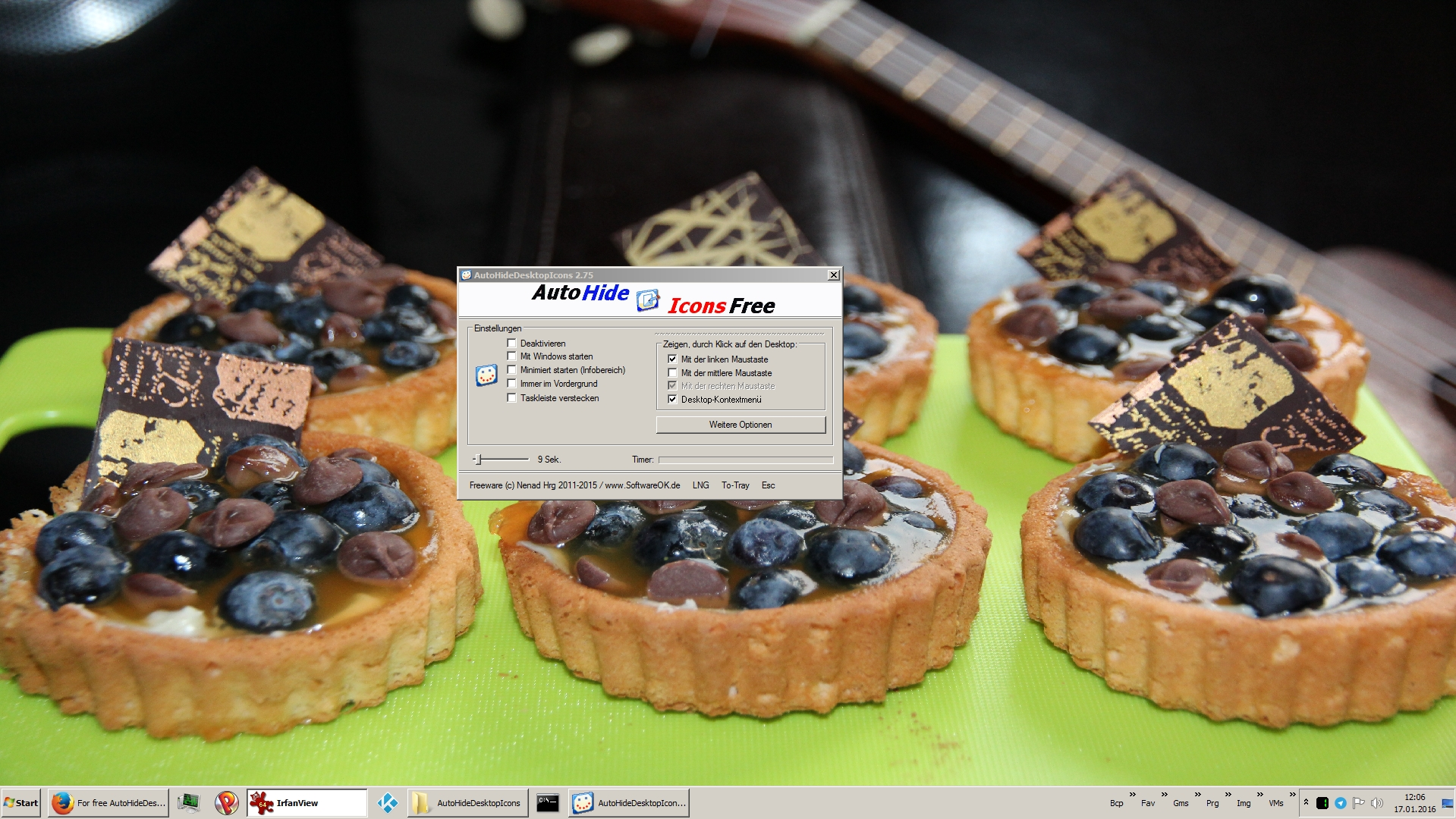 Desktop-Icons ausblenden