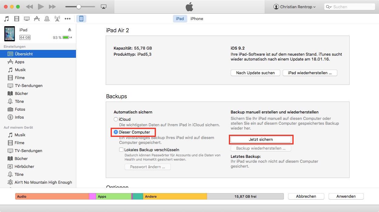 Iphone Daten Sichern Auf Mac