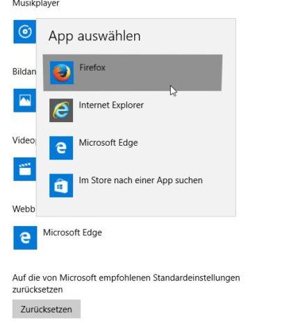 Standardbrowser Windows 10