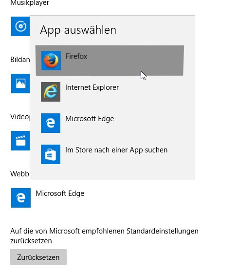 Standardbrowser Windows 10