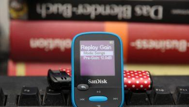 Bild von Maximale Lautstärke beim SanDisk Clip Sport erhöhen