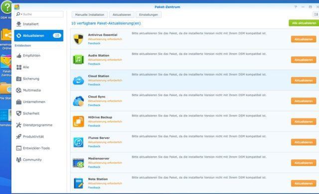 Neben dem Grundsystem solltet Ihr auch die installierten Apps aktualisieren