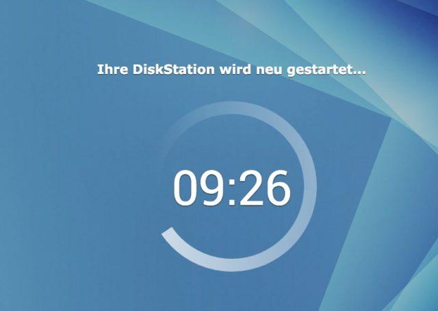 Die Installation von DiskStation Manager 6.0 dauert nur wenige Minuten