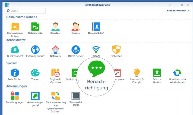 Synology Systemsteuerung