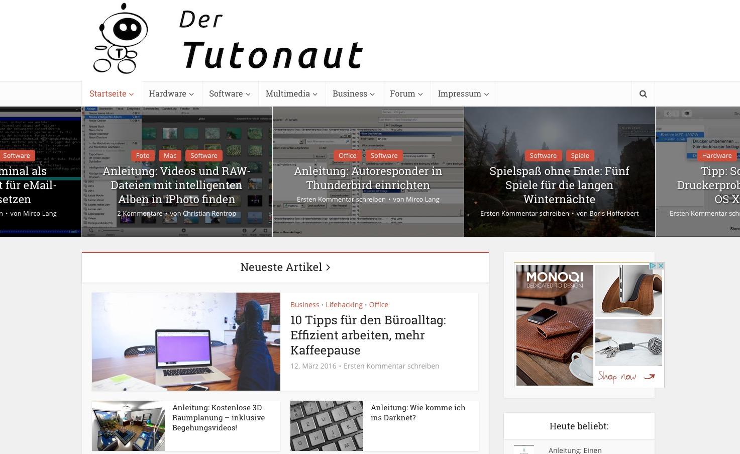 Der Tutonaut – Technik einfach erklärt - Tutorials und Anleitungen