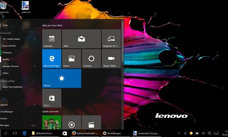 Windows 10 Startmenü