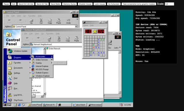 Fensterchaos in Windows 98 - neee, was war das schön :)