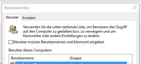windows tipp anmeldung ohne passwort