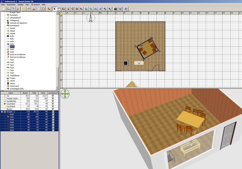 anleitung kostenlose raumplanung mit sweet home 3d. Black Bedroom Furniture Sets. Home Design Ideas