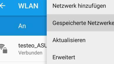 Bild von Gespeicherte WLAN-Zugänge unter Android löschen