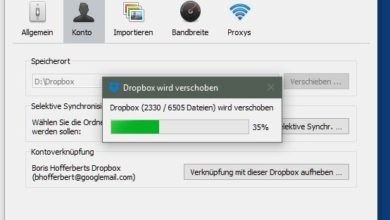 Bild von Anleitung: Dropbox-Ordner auf ein anderes Laufwerk verschieben