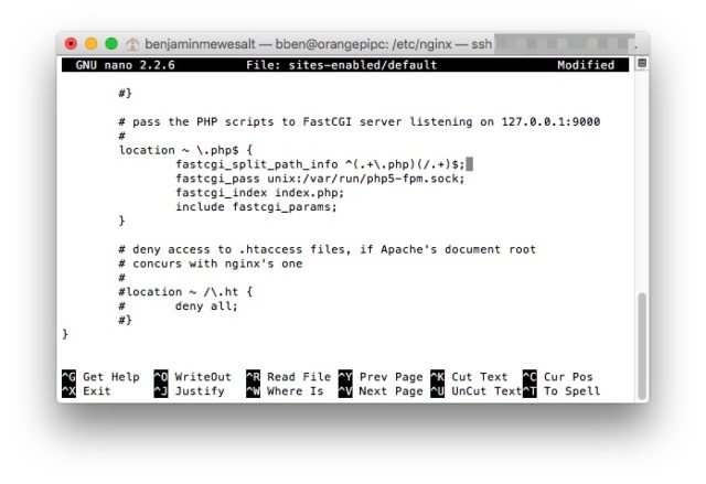 Durch das Auskommentieen dieser Zeilen aktiviert Ihr PHP auf dem Server