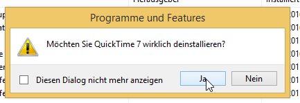 Tut Eurem System etwas Gutes und schmeißt Apple QuickTime von der Platte