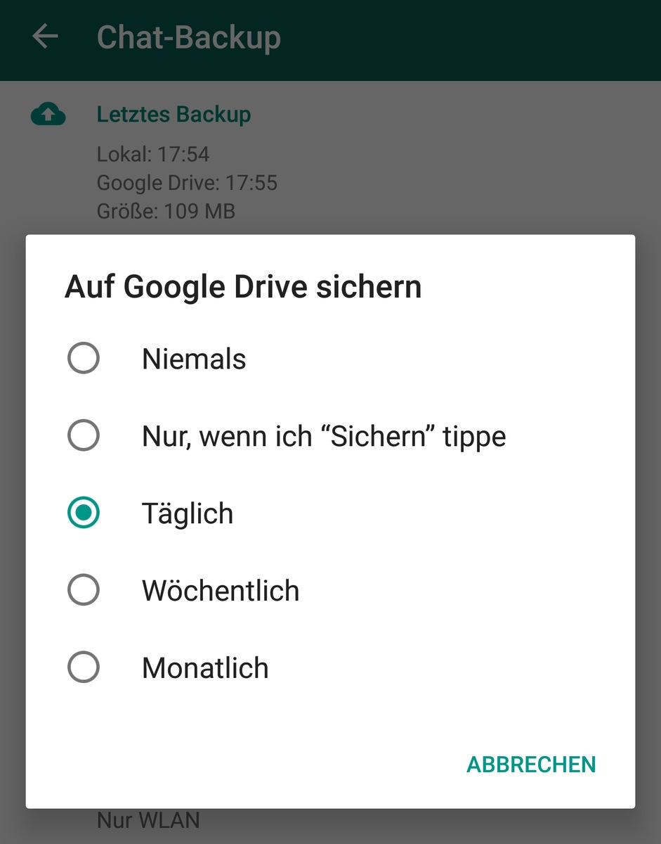 how to backup whatsapp without google drive