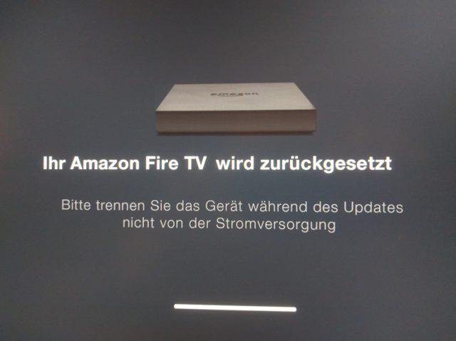 Fire TV Werkseinstellungen