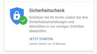 Bild von Google-Konto auf Sicherheitsprobleme überprüfen