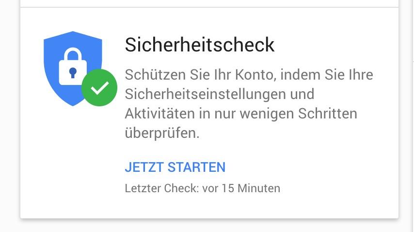 Lästig, aber wichtig: Prüft regelmäßig, ob bei Eurem Google-Konto alles in Ordnung ist
