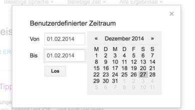 Bild von Google-Suche auf bestimmte Zeiträume beschränken