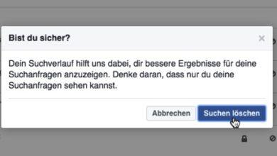 Photo of Suchverlauf bei Facebook bearbeiten und löschen