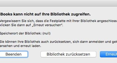 Bild von Bibliothek-Probleme mit iBooks unter MacOS beheben