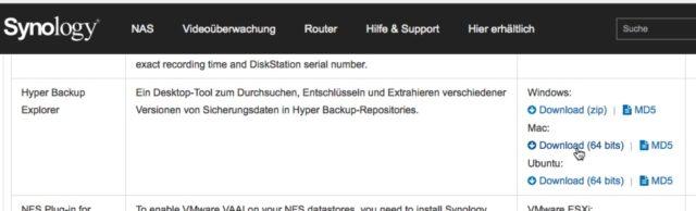 Synology Hyper Backup Explorer