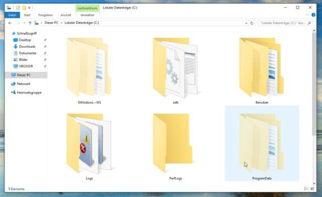 Versteckte Dateien